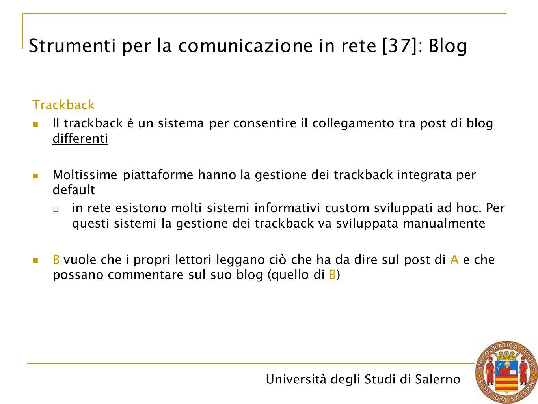 Strumenti per la comunicazione in rete [37]: Blog